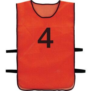 TRUSCO 番号安全ベスト 「4」 オレンジ(TBB4)