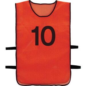 TRUSCO 番号安全ベスト 「10」 オレンジ(TBB10)