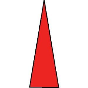 ユニット ゲージマーカー 赤・PPステッカー・1シート100枚入(44681)