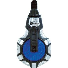 シンワ チョークライン 5倍速手巻 粉付3倍太糸ブルー(77560)