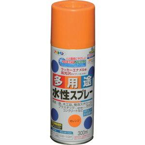 アサヒペン 水性多用途スプレー 300ML オレンジ(565075)