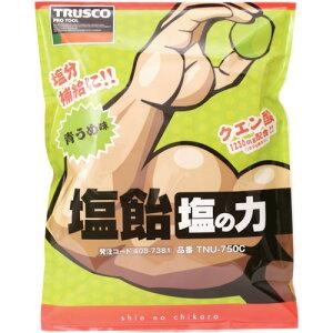 TRUSCO 塩飴 塩の力 750g 青梅味 詰替袋(TNU750C)