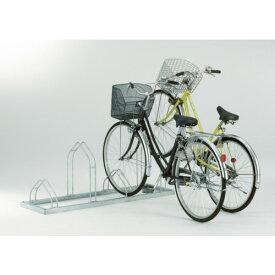 ダイケン 平置き自転車ラック前輪差込式サイクルスタンド 4台収容ピッチ400(CSM4)