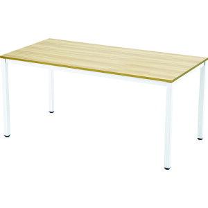 TRUSCO ミーティングテーブル W1500xD750 ナチュラル天板X白脚 (MT1575NAW)【トラスコ中山(株)】