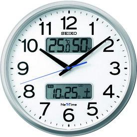 """SEIKO 電波掛時計 """"セイコーネクスタイム ZS250S"""" (ハイブリッド電波時計) (ZS250S)【セイコークロック(株)】"""