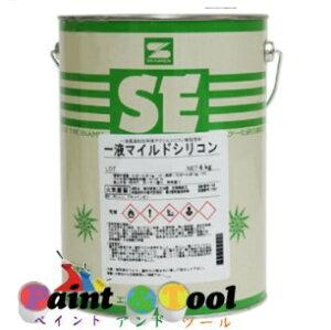 一液マイルドシリコン 7分艶 オレンジ 4kg(缶)【エスケー化研株式会社】