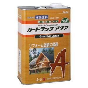木材保護塗料 ガードラックアクア W・Pステイン チョコレート A-5 3.5K缶 【和信化学工業株式会社】