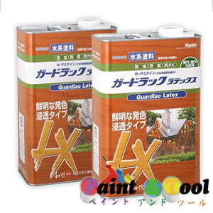 浸透タイプ 木材保護塗料 ガードラックラテックス W・Pステイン オリーブ LX-7 3.5K缶 【和信化学工業株式会社】