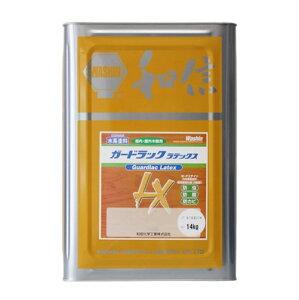 浸透タイプ 木材保護塗料 ガードラックラテックス W・Pステイン ブラック LX-1 黒 14K缶 【和信化学工業株式会社】