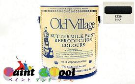[ ]バターミルクペイント(水性)Buttermilk Paint 3785ml Black【Old Village】