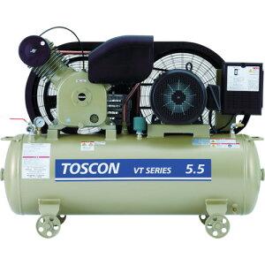 東芝 タンクマウントシリーズ オイルフリー コンプレッサ(低圧)(VLT10D4T)