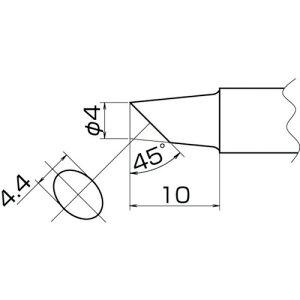 白光 こて先 4BC型 面のみ(T20BCF4)