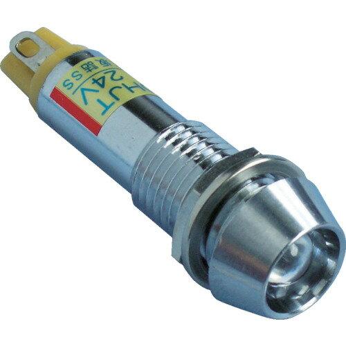 サカズメ メタルフレーム形LED表示灯 DO−10HJT DC24V 赤φ10(DO10HJTDC24VR)