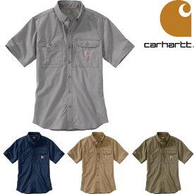 CARHARTT SOLID SHORT SLEEVE SHIRT (4色展開) カーハート シャツ ボタンダウンシャツ 半袖