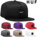 ハフ キャップ HUF ESSENTIALS BOX SNAPBACK CAP ベースボールキャップ スナップバックキャップ 帽子