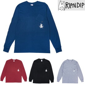 RIPNDIP HANG IN THERE LONG SLEEVE TEE (5色展開) リップンディップ Tシャツ t-shirt プリントT ロングスリーブ
