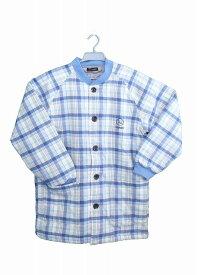キルトルームウェア(ジャケット)(メンズナイトウェア)ブルー