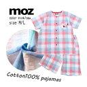 moz レディース パジャマ Cotton 100% [ 婦人 女の子 女性 上下セット シャツ M L 夏 半袖 誕生日 プレゼント ギフト…