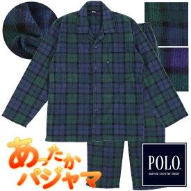 POLO BCS パジャマ あったかフリース メンズ S〜LL ポロ [ S M L LL メンズ 紳士 セットアップ パジャマ ルームウェア ナイトウェア 冬 部屋着 誕生日 カイタック ファミリー 2A065PH ]