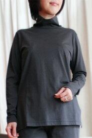 感動の肌触り・奇跡の柔らか綿!GIZA45(ギザ45)高級 レディース 長袖 Tシャツ/無地・トップス・タートルネック・ハイネック・ボトルネック/綿100%/女性 婦人用/日本製 母の日 ギフトにも【国内送料無料】【あす楽対応】