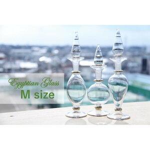 ハーバリウム 瓶 ボトルファンシー エジプトガラス 香水瓶 香水ボトル かわいい プレゼント おしゃれ エジプシャングラス (選べる3本Mサイズ) エジプト オイル ディスプレイ 花材 ギフト