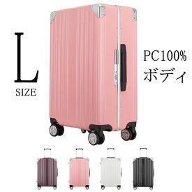 クロース(Kroeus)キャリーケース スーツケース PC100%ボディ 4色選び 海外出張 旅行 TSAロック搭載 8輪 アルミフレーム S型機内持ち込み可 日本語取扱説明書 1年間保証付き A9058-K-24 Lサイズ 61L