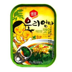 『センピョ』えごまの葉キムチ缶詰(70g)sempio 缶詰 韓国おかず 韓国料理 韓国食材 韓国食品マラソン ポイントアップ祭