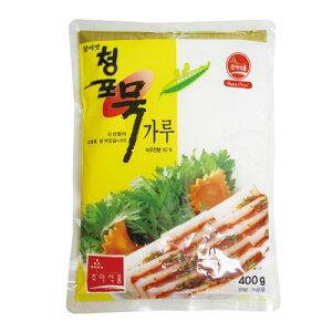 『草野』チョンポ(緑豆)ムックの粉 緑豆こんにゃくの粉(400g) 緑豆 ダイエット食品 寒天 こんにゃく 韓国料理 韓国食材 韓国食品\栄養たっぷりなのに、低カロリー!/マラソン ポイントア
