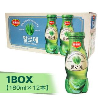 """""""Del Monte""""蘆薈汁(瓶子、1BOX=180mlx12書)健康飲料韓國豆漿韓國飲料韓國飲料韓國飲料韓國食材韓國食品超級市場促銷點數提高節05P03Sep16"""