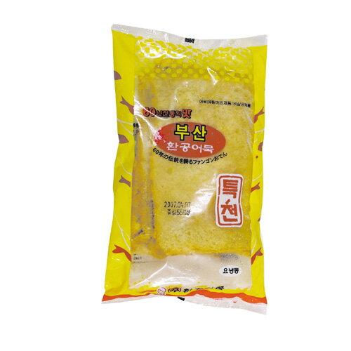 『ファンゴン』釜山四角オデン(500g・10枚) おでん さつま揚げ かまぼこ トッポギ 加工食品 韓国食材 韓国食品 オススメ\韓国のおでんは、日本のさつま揚げに似た魚の練り物/マラソン ポイントアップ祭