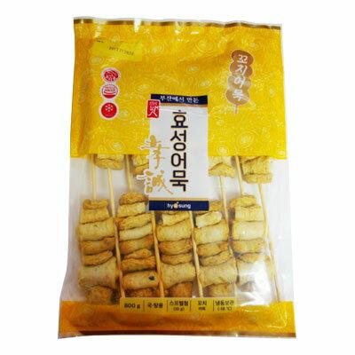 『ヒョソン』串おでん(800g・10個) おでん さつま揚げ 串 加工食品 韓国料理 韓国食材 韓国食品\すでに串に通してあるので、鍋に入れるだけ!!/マラソン ポイントアップ祭
