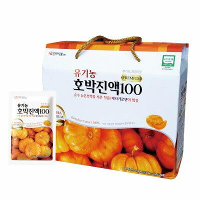 再入荷 『ウンハ食品』有機農かぼちゃエキス100|濃縮液(100ml×50袋) 健康補助食品 韓国食品 マラソン ポイントアップ祭