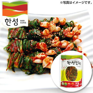 [冷蔵]『漢盛』ネギキムチ(500g)■100%韓国産小ねぎ使用ハンソン 韓国キムチ 韓国おかず 韓国料理 韓国食材 韓国食品マラソン ポイントアップ祭