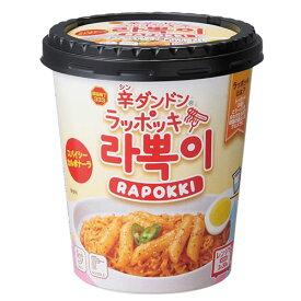 辛ダンドン ラッポッキ カップ(138g・カルボナーラ味) 即席ラッポッキ スパイシーカルボナーラ味 カップトッポキ 韓国料理 韓国食品 オススメ マラソン ポイントアップ祭 スーパーセール