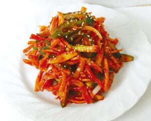 【冷蔵】『自家製』キキョウの根キムチ|キキョウ辛味和え(500g) おかず 和え物 惣菜 韓国おかず 韓国キムチ 韓国料理マラソン ポイントアップ祭