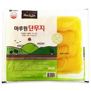 『イルガ』業務用タクアン(輪切り、半円形-2.8kg) たくあん おかず 惣菜 韓国おかず 韓国キムチ 韓国料理 韓国食品\韓国のたくあんは甘さ控えめで少々酸っぱく、水分が多いのが特徴/マラ