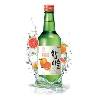 """Jinro"" JINRO jamoneysul | Soju (360 ml) ★ Grapefruit flavor liquor Korea wine Korea liquor Marathon point up Festival 05P01Oct16"