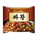 『農心』チャ王(134g×1個) ノンシン ジャジャンー麺 韓国ラーメン インスタントラーメン 韓国料理 韓国食品\柔らかい、コクのあるジャジャンソース、3mmの太い麺はソースとのからみが抜群/マラソ