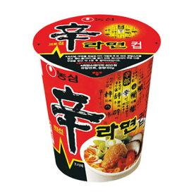 『農心』辛ラーメン カップ麺(小・65g×1個)|シンラーメンカップ麺 シンラーメン ノンシム NONG SHIM 韓国ラーメン インスタントラーメンマラソン ポイントアップ祭