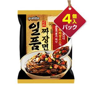 『Paldo』一品ジャジャン麺(200g×4個入りパック)■1個当り157円パルド 韓国ラーメン インスタントラーメン ジャージャー麺 チャジャン麺 ジャジャン麺マラソン ポイントアップ祭