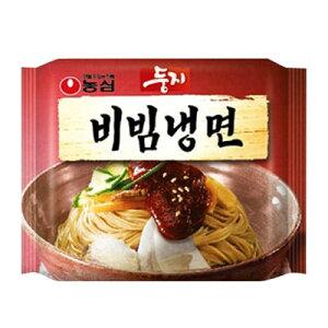 『農心』ドゥンジ ビビン冷麺(162g・1人前)ノンシム インスタント 韓国麺 韓国冷麺 韓国食材 韓国食品 \やや辛くてやや酸っぱビビンジャンに絡めて食べる汁なし冷麺/マラソン ポイントア