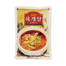『眞漢』ユッケジャン(600g・辛さ2) ジンハン レトルト 韓国スープ 韓国鍋 韓国料理 チゲ鍋 韓国食品 オススメマラソン ポイントアップ祭 スーパーセール