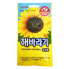 『LOTTE』チョコヘバラギ|ひまわり種チョコ(30g×1個)ロッテ チョコレット 韓国お菓子 韓国食品マラソン ポイントアップ祭