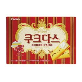 『CROWN』ククダス|ホワイトチョコ入りクッキー(72g)クラウン クッキー 韓国お菓子マラソン ポイントアップ祭