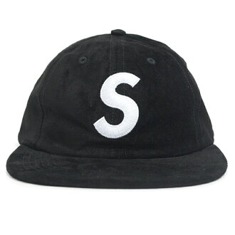 Supreme / Supreme Suede S Logo 6-Panel / suede S logo 6 Panel Cap Black / Black 2016 AW FW domestic genuine tagged Nos new old stock