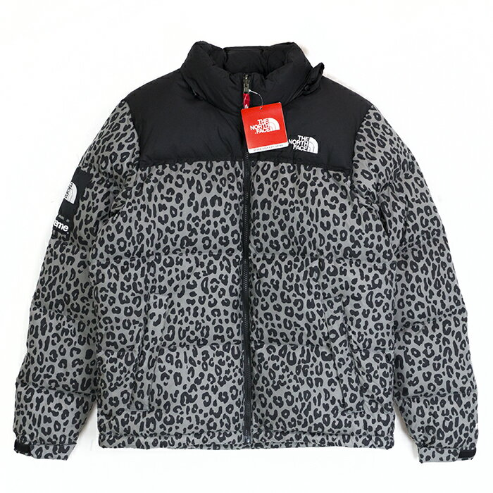 Supreme × The North Face / シュプリーム × ノースフェイスNuptse Leopard Print Down Jacket / ヌプシ レオパード ダウン ジャケットGray / グレー2011AW FW Mサイズ 国内正規品 タグ付き 新古品【中古】