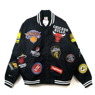 Supreme x NIKE x NBA / シュプリームナイキエヌビーエー Teams Warm-Up Jacket / team warm-up jacket Black / black black 2018SS domestic regular article old and new things product