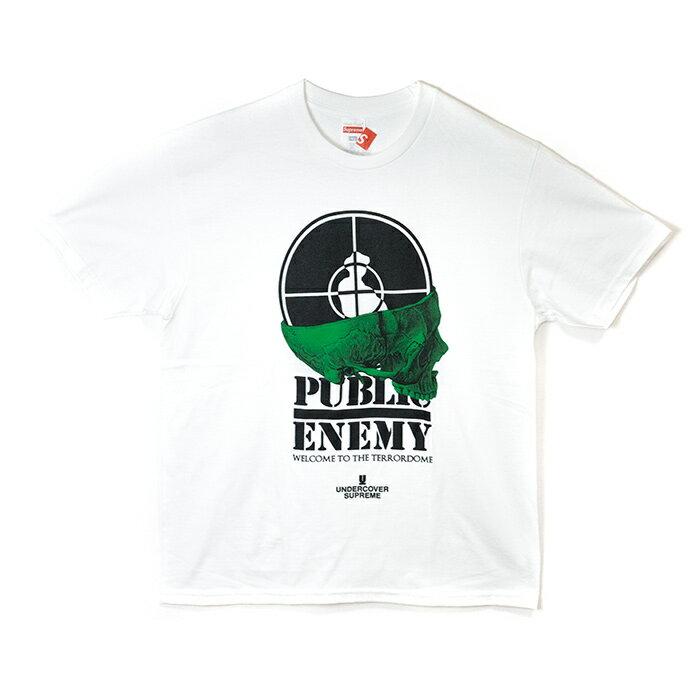 Supreme x UNDERCOVER / シュプリーム アンダーカバーPublic Enemy Terrordome Tee /パブリック エネミー テラドーム TシャツWhite / ホワイト2018SS 国内正規品 新古品【中古】