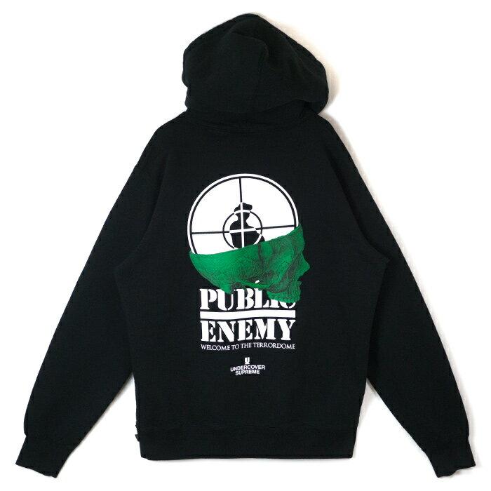 Supreme x UNDERCOVER / シュプリーム アンダーカバーPublic Enemy Terrordome Hooded Sweatshirt /パブリック エネミー テラドーム フーデッド スウェットシャツ フード パーカーBlack / ブラック2018SS 国内正規品 新古品【中古】