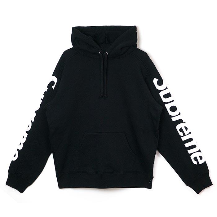 Supreme / シュプリームSideline Hooded Sweatshirt / サイドライン フーデッド スウェットシャツBlack / ブラック 黒2018SS 国内正規品 新古品【中古】